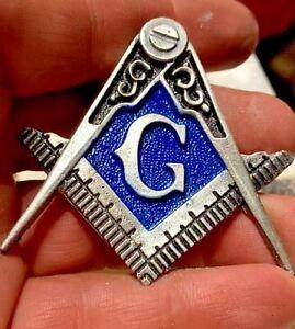Masonic Logo ~1.6oz Hand Poured Locker Mint .999 Silver Unique Freemasonry ***