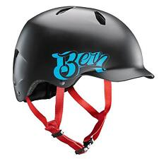 Bern Bandito Matte Black, Fahrradhelm, Cappy Style BMX Skate Helm 51,5-54,5cm