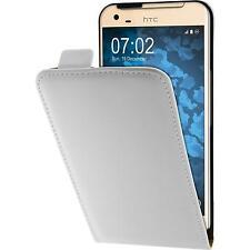 Copertura di cuoio artificiale HTC One X9 - Flip-Case bianco Case