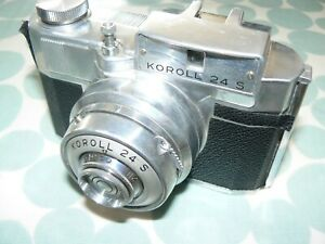 BENCINI KOROLL 24 S ROLL FILM CAMERA -  QUITE A TIDY EXAMPLE with LEATHER CASE