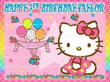 HELLO KITTY: Personalized edible cake topper FREE SHIPPING in Canada