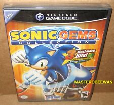 Sonic Gems Collection (Nintendo GameCube, 2005) GC & Wii New Sealed Black Label