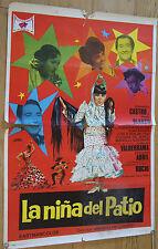 Used - Cartel cine  LA NIÑA DEL PATIO  Vintage Movie Film Poster - Usado