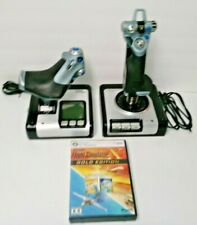 Saitek X52 Flight Control System Joysticks And Flight Simulator X Gold Edition