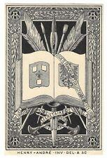 HENRY ANDRE: heraldisches Eigen- Exlibris