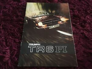 Triumph TR6 PI Brochure 1970 - Original UK Issue RARE 9 / 1969