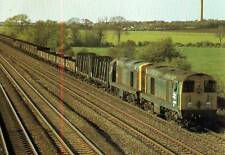Diesel locomotive Class 20 20067 20077 Cossington Leicestershire 1981 postcard