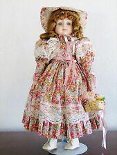 "Betty Jane Carter Porcelain Doll ""Cecilia"" 19"" Music ""Camelot"" Bette Ball Nib"