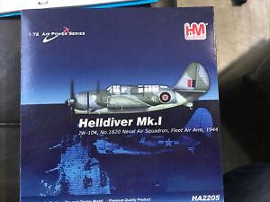 HOBBY MASTER HA2205 1/72 HELLDIVER MK.1 JW104 No 1820 NAVAL AIR SQUADRON 1944