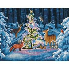 Counted Cross Stitch Kit Woodland Glow Christmas Deer Dimensions