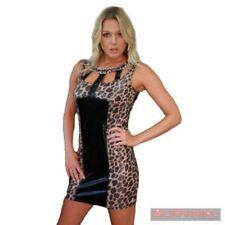 Regular Size Clubwear Animal Print Dresses for Women