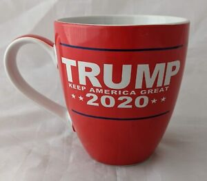 Trump Coffee Mug 2020 Keep America Great Porcelain Trump MAGA Red/white Cup