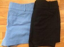 Woman's Ann Taylor Signature Black Shorts and Loft Shorts blue size 8 (Lot of 2)
