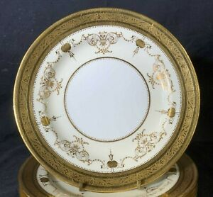 """Minton China for Tiffany & Co.G9131 Gold Encrusted Plate 9"""" Jeweled"""