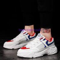 2020 Fashion Men Korea Hip-Hop Breathable Athletic Board Sports Shoes Lace up