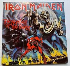 "Iron Maiden LP ""Number of the Beast"" RARE ~ Signed by band CLIVE BURR"