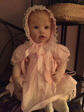 "Hildegard gunzel doll porcelain.. limited edition.. precious 20"" baby  blonde"