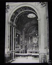 Glass Magic Lantern Slide ROME S MARIA DI LORETO HIGH ALTER C1910 ITALY