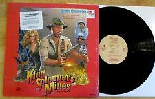 KING SOLOMON'S MINES RARE SOUNDTRACK LP W/ SHRINK & HYPE STICKER JERRY GOLDSMITH