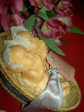 Rare pair of antique Victory Defense twin soap baby dolls in basket w/provenance