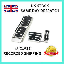 AUDI A6 S6 RS6 4G C7 CHROME SPORT AUTOMATIC FUEL BRAKE FOOTREST PEDAL COVER SET