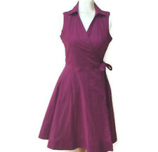 Jasper Conran Wrap Dress Size 12 Cotton Magenta Sleevless Desiners at Debenhams