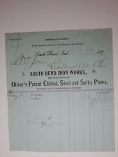 1896 SOUTH BEND IRON WORKS Mdse Balance SOUTH BEND INDIANA Letterhead