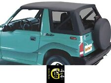 Copertura Capottina Soft Top Di Ricambio Suzuki Vitara 88-04 Cabrio Tetto Nero