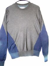 """MARTIN MARGIELA  SWEATER s/s 2014 color block crew neck wool cotton med ch 40"""""""