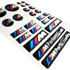 24 Ps Set Decal M Performance Badge Interior & Wheel Sticker Emblem Fits For BMW