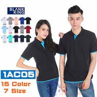 NEW Men's New Fashion Short Sleeve Polo Collar Work T-shirt Cotton Shirt Tops BJ