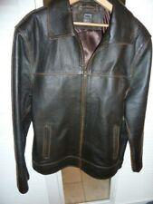 Vintage Bomber Leather Jacket size Mens Medium motorcycle Brown