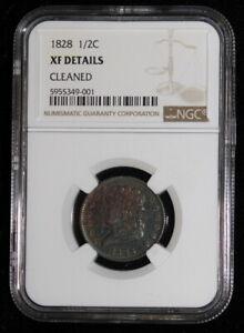 1828 XF NGC Graded Classic Head Half Cent