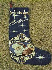 du Père Noël NUIT TAPISSERIE Chaussette de noël~Believe