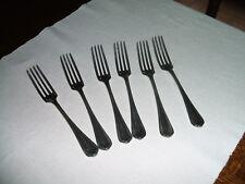 6 grandes fourchettes de table Christofle métal argenté modèle Spatours 21,5cm