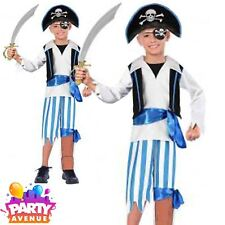 Peg Leg Pirate Caribbean Buccaneer Boys 6-8 yrs Travis Dress Up  Hat Sword