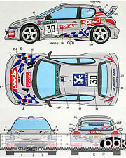 STUDIO 27 PEUGEOT 206 WRC #1 #30 SPEED RALLY FINLAND 2001 DECAL for TAMIYA 1/24