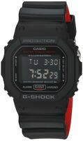 Casio Men's 'G Shock' Quartz Resin Casual Black Watch, DW-5600HR-1CR