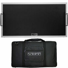 VHT AV-PB2 Large Flat Black Guitar Effects Pedal Board with Soft Case 25'' x 13'