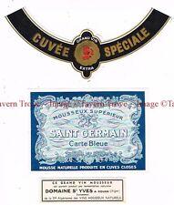 1930s Algeria Kouba Domaine St Yves SAINT GERMAIN CARTE BLEUE WINE label