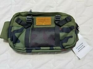 1 NWT JANSPORT WAISTPACK, STYLE: WAY OUT SUEDE, COLOR: NEW OLIVE CAMO (J142)