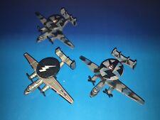 Micro Machines Military Lot X3 E-2C Hawkeye AWACS Early Warning Navy Aircraft