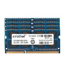 Crucial 16GB 4X 4GB 2Rx8 PC3-8500S DDR3-1066Mhz SO-DIMM Laptop Memory RAM 204Pin