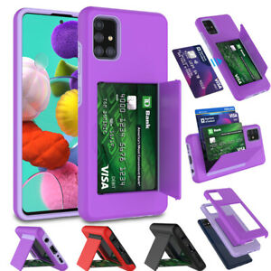 For Samsung Galaxy A71 5G A11 Shockproof Wallet Case Credit Card Holder Cover