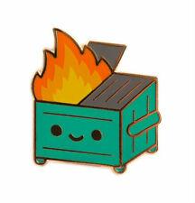 LIL DUMPSTER FIRE ENAMEL PIN BY 100% SOFT