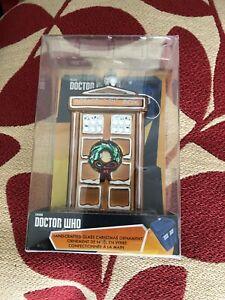 Doctor who  Kurts  Alder  Gingerbread Colour Tardis   glass christmas  Ornament