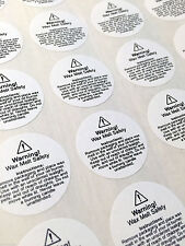 2052x small wax melt usage safety labels (29mm round) - FREE SHIPPING!!