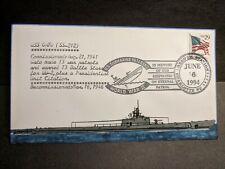 Submarine USS GATO SS-212 Naval Cover 1994 EVERETT HAND-PAINTED Cachet ETERNAL