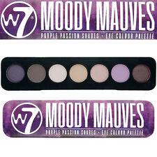 W7 Cosmetics Moody Mauves Purple Passion Shades Tin 7pc Eye Colour Palette