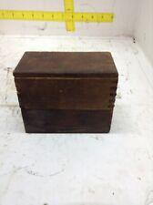 ANTIQUE-VINTAGE STEEL STAMP SET WITH ORIGINAL WOOD BOX-TOOL PUNCH